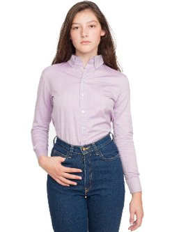 American Apparel - Pinpoint Oxford Long Sleeve Button-Down