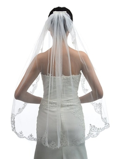 Topwedding  - Ivory Tulle Bridal Wedding Veil