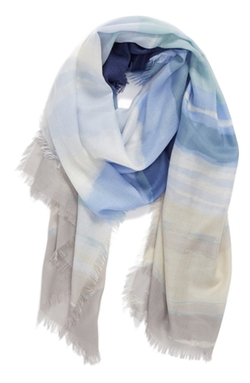 Nordstrom  - Watercolor Block Cashmere & Silk Scarf