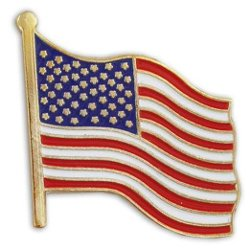 Pinmart - United States Waving American Flag Pin