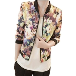 Amoin - Floral Printed Bomber Jacket