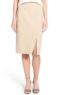 Ellen Tracy - Asymmetrical Front Slit Pencil Skirt