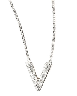 KC Designs - Diamond Letter V Necklace