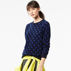 Uniqlo - Printed Fleece Pullover Sweater