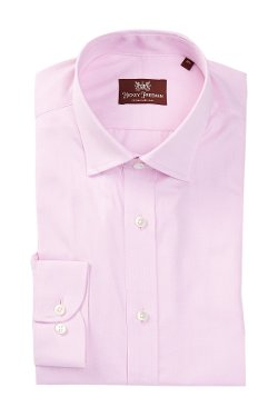 Hickey Freeman  - Spread Collar Herringbone Dress Shirt