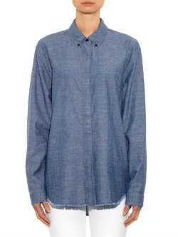 Proenza Schouler - Point-Collar Chambray Shirt