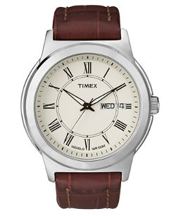 Timex   - Croc-Embossed Leather Strap