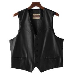 Excelled  - Button-Front Leather Vest