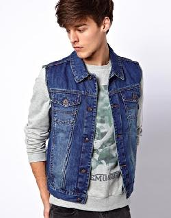 ASOS - Sleeveless Denim Jacket
