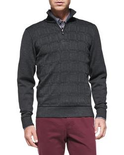 Brioni - Textured 1/2-Zip Sweater