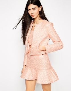 Lashes of London  - Heart Quilted Jacket