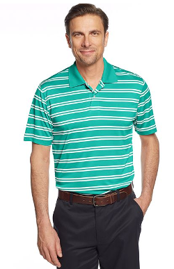 John Ashford  - Striped Performance Polo
