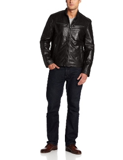 Dockers - Washed Leather Racer Jacket