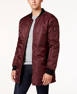 Guess - Liam Satin Long Bomber Jacket