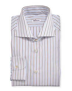 Kiton - Multi-Striped Woven Dress Shirt