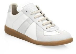 Maison Margiela - Leather & Suede Low-Top Sneakers