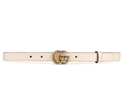 Gucci - Double G Buckle Leather Belt