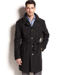 Ralph Lauren  - Black Single-Breasted Trench Coat