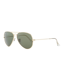 Ray-Ban - Original Aviator Polarized Sunglasses, Green