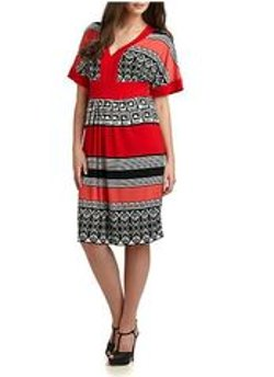 Melissa Mase - Printed Jersey Dress