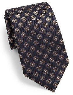 Canali  - Octagon Medallion Silk Tie