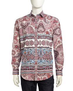 Neiman Marcus  - Fancy Paisley Sport Shirt