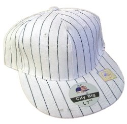 Hats&Fudge - Pin Stripe Fitted Flat Bill Hats