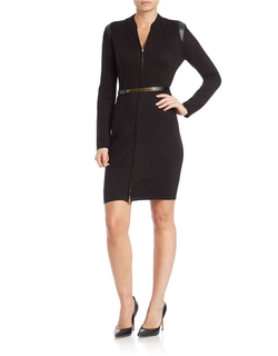 Calvin Klein - Zip-Front Sheath Dress