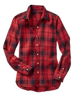 Gap - Plaid Boyfriend Shirt