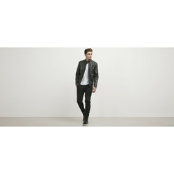 Kenneth Cole New York - Faux Leather Moto Jacket