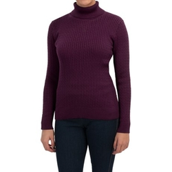 Jeanne Pierre  - Cable-Knit Turtleneck Sweater