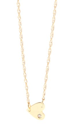 Jennifer Zeuner Jewelry  - Heart Necklace with Diamond