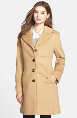 Larry Levine - Wool Blend Walking Coat