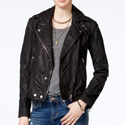 Lucky Brand - Leather Moto Jacket