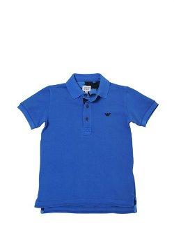 Armani Junior  - Washed Stretch Cotton Piqué Polo Shirt