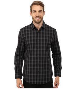 Perry Ellis  - Long Sleeve Plaid Pattern Shirt