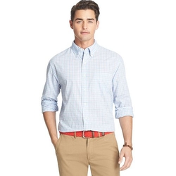 IZOD -  Gingham Plaid Casual Button-Down Shirt