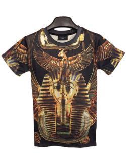 Babyhclub  - Egypt Pharaoh Printed Round Collar T-shirt