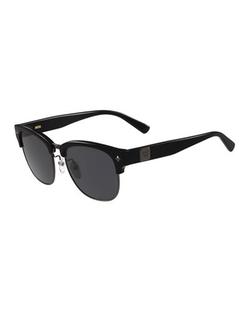 MCM  - Logo Plaque Half-Rim Sunglasses