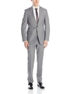 Calvin Klein  - Marbry Grey Two-Button Side-Vent Suit