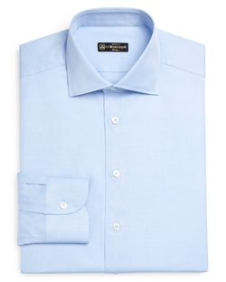 Corneliani - Solid Twill Slim Fit Dress Shirt
