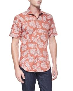 Bogosse  - Floral Paisley-Print Short-Sleeve Shirt