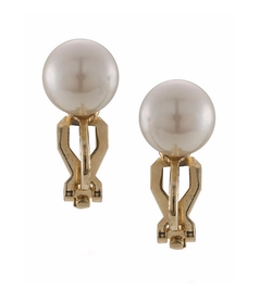 Carolee  - The Naomi Faux Pearl Stud Clip On Earrings