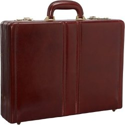 Mancini Leather Goods - Luxurious Italian Leather Expandable Attaché Case