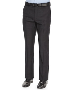 Theory - Marlo Ganler Large-Plaid Wool Trousers