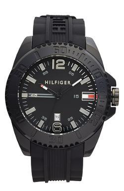 Tommy Hilfiger  - Round Silicone Strap Watch
