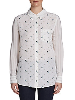 Equipment  - Reese Floral-Print Silk Shirt