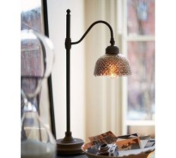 Pottery Barn - Chloe Hobnail Mercury Glass Task Table Lamp