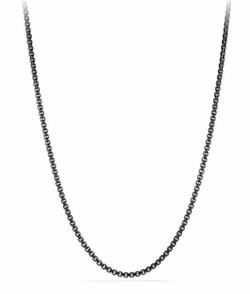David Yurman  - Chain Stainless Steel Box Necklace