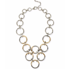 Kenneth Cole New York  - Two-Tone Circle Link Statement Necklace